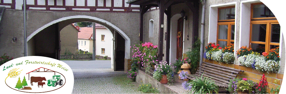 Innenhof des Ferienhofs